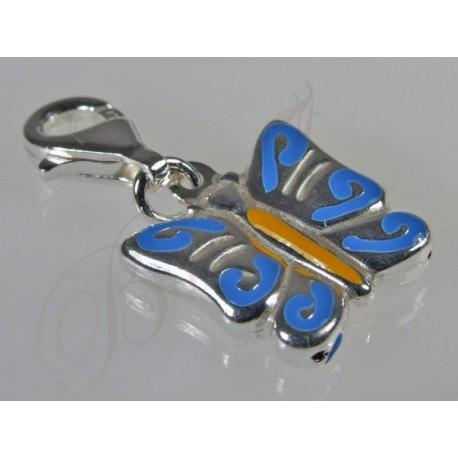 Motyl charms - srebrna zawieszka do bransoletki