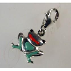 Charms żabka - srebrna zawieszka do bransoletki