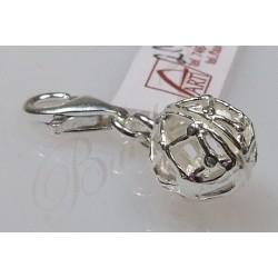 Ażurowa kula - srebrna zawieszka do bransoletki