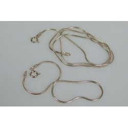 Subtelny komplet bransoletka i łańcuszek