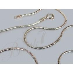 Srebrny łańcuszek - nacinana linka