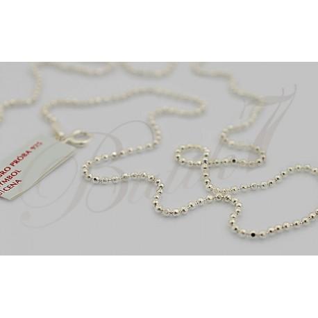 Srebrny łańcuszek - szlifowane kulki