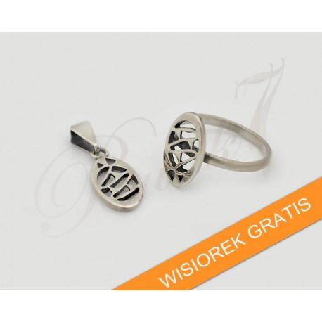 Srebrny pierścionek - Wisiorek GRATIS