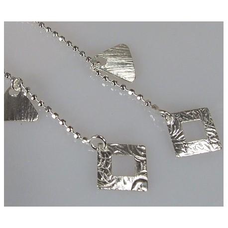 Młodzieżowe długie srebrne kolczyki