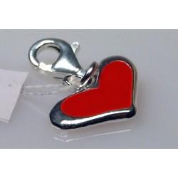 Serce charms - srebrna zawieszka do bransoletki