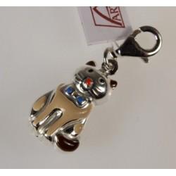 Kotek charms - srebrna zawieszka do bransoletki