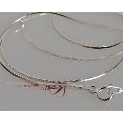 Srebrny łańcuszek 40cm - żmijka