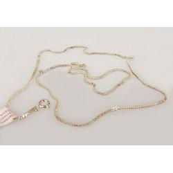 Srebrny łańcuszek 45cm - splot pancerka
