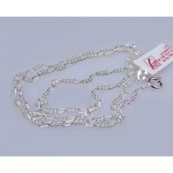 Srebrny łańcuszek - splot figaro