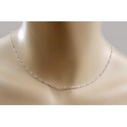 Srebrny łańcuszek 50cm - splot figaro