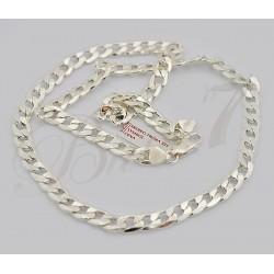 Gruby łańcuch męski 55cm - splot pancerka