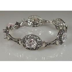 Niezwykle elegancka bransoletka z kryształami Swarovskiego